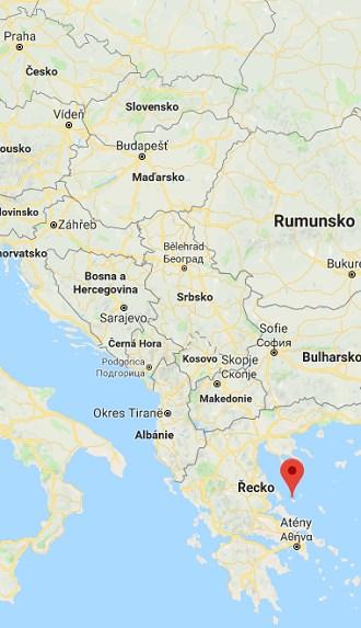 Poloha Skopelosu na mapě Řecka