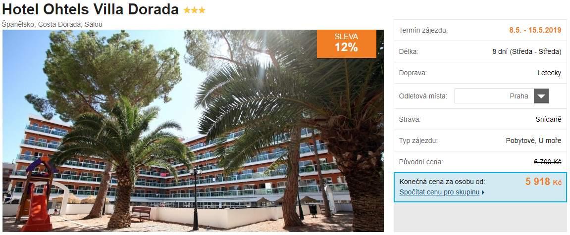 Španělsko nejlevnější dovolená a zájezdy Costa Dorada