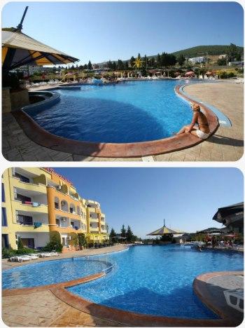 Bazén u hotelu Sveti Vlas v Bulharsku