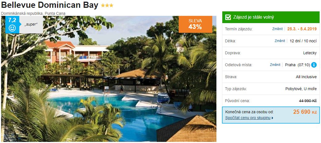 Dominikánská republika punta cana levná all inclusive dovolená