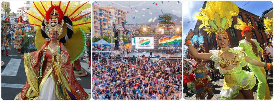 Karneval Tenerife Kanárské ostrovy