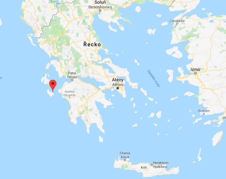 Kde leží aneb poloha Zakynthosu na mapě Řecka