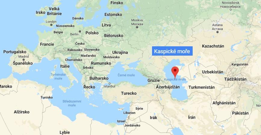 Kde na mapě leží Kaspické moře