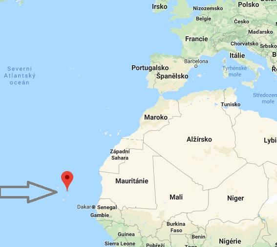 Kde se nachází Kapverdské ostrovy na mapě světa