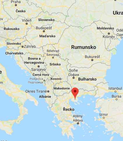 Poloha Chalkidiki v Řecku na mapě