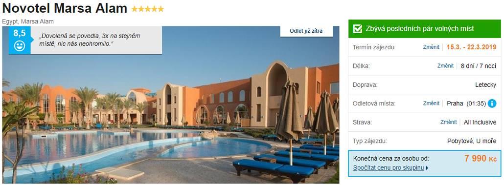 Super last moment Egypt levný zájezd