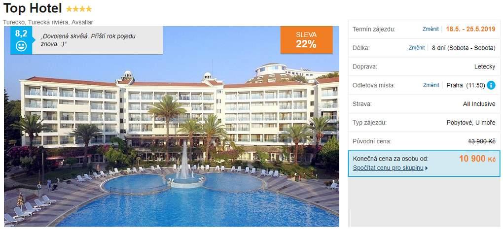 TOP hotel Turecká riviéra levný zájezd