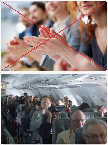 Tleskání v letadle