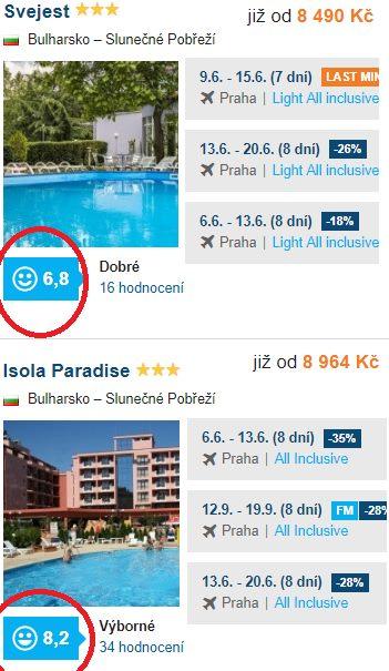 All Inclusive dovolená v Bulharsku Slunečné Pobřeží