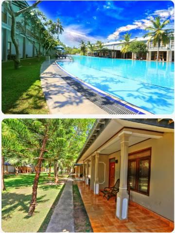 Hotelový bazén u hotelu Carolina Beach na Srí Lance