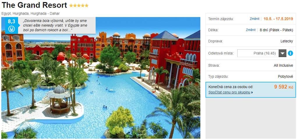 Levný hotel s All Inclusive v nejvyšším komfortu v Hurghadě ve středím Egyptě
