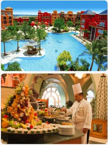 Luxusní letoviska u pobřeží Hurghady s pětihvězdičkovém resortu