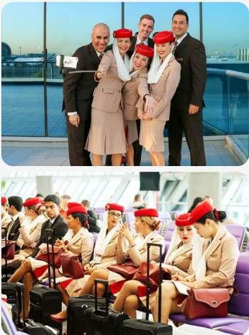 Palubní průvodčí a letuška u Emirates