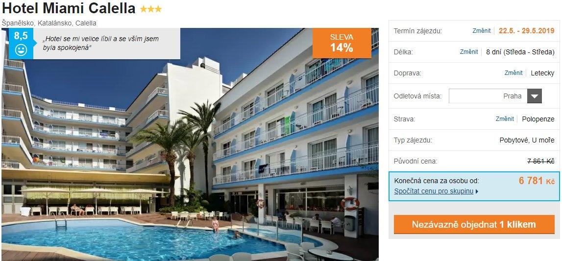 Španělsko super last moment skvěle hodnocený hotel