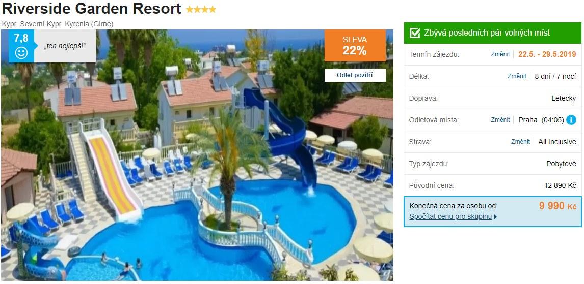 Akční pobytový zájezd na ostrov Kypr s All Inclusive