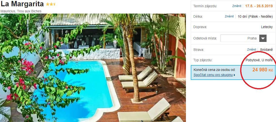 Akční zájezd na Mauricius levná dovolená