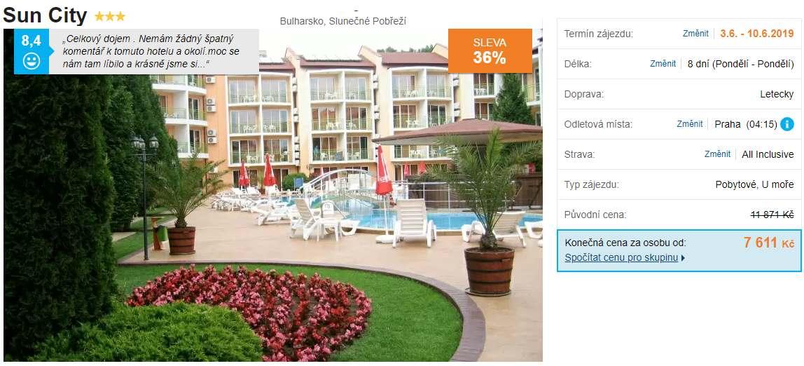 Bulharsko Slunečné pobřeží All Inclusive na začátku června