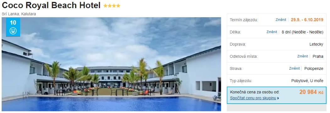 Luxusní hotel na Srí Lance ve slevě na přelomu září a října