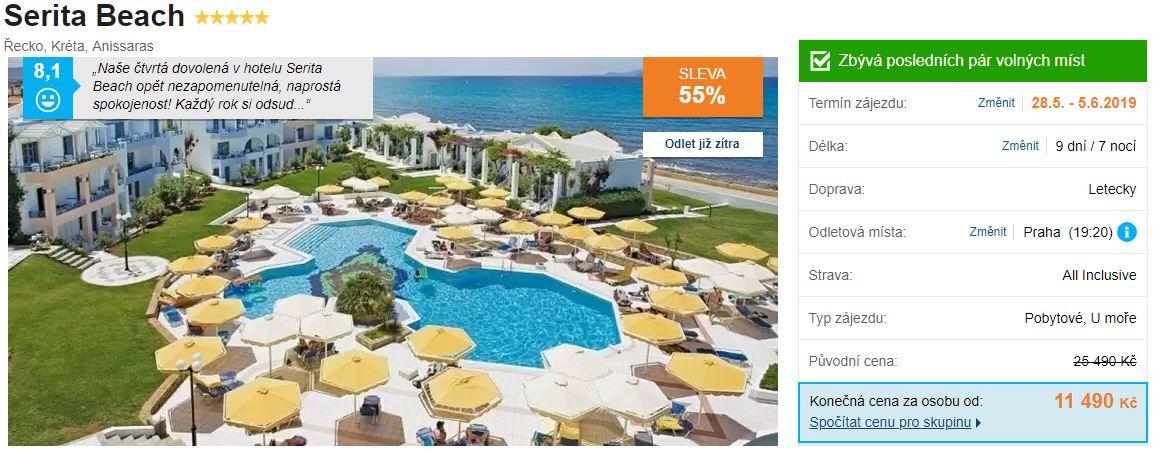 Ostrov Kréta Řecko překrásný hotel s bazénem dobré zkušenosti