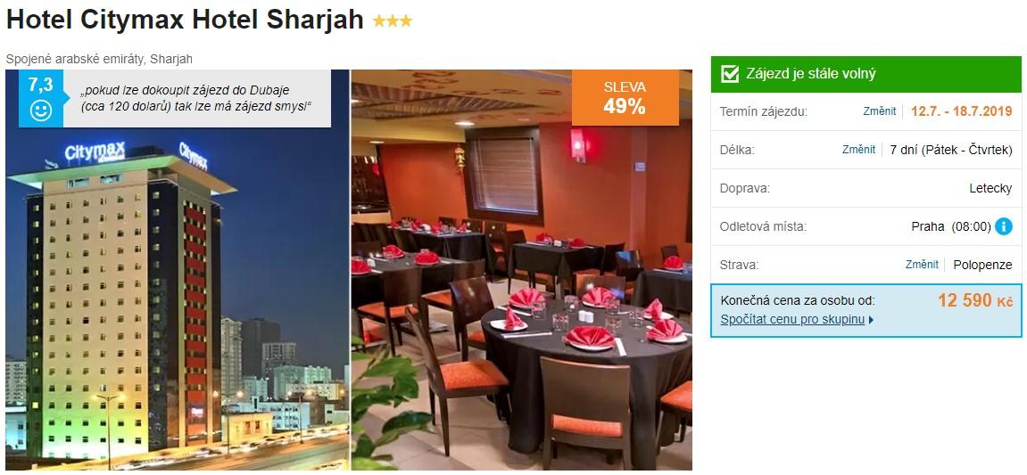 Sharjah polopenze akční zájezdy
