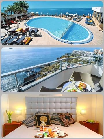 Výhled z hotelu ve Funchalu při dovolené na Madeiře v červnu
