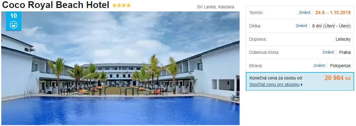 Akční zájezd Srí Lanka levná polopenze