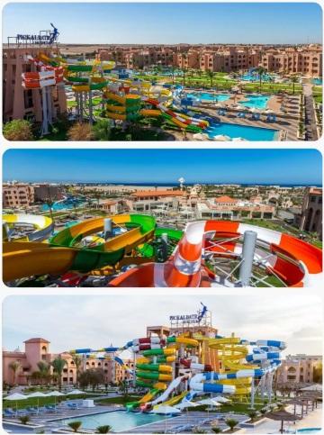 Krásný aquapark s tobogánem All Inclusive v Egyptě