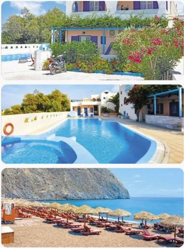 Santorini krásný zájezd s pláží a za mořem