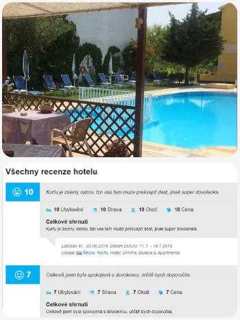 Recenze hotelu na Korfu