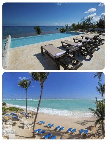Bazén a moře s pláží v Dominikánské republice