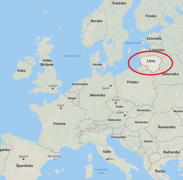 Kde na mapě leží Litva