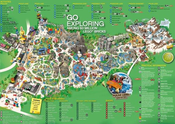 Legoland Dánsko Billund mapa areálu miniatura