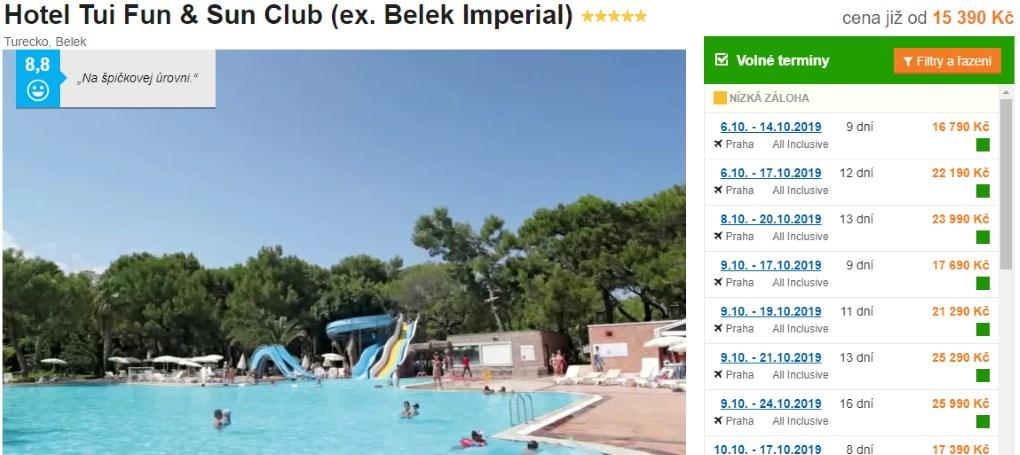 Recenze hotel tui fun and sun club v Turecku