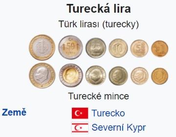 Turecká lira mince