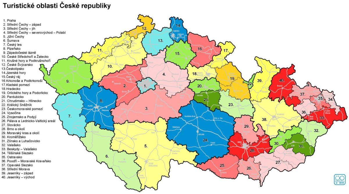 Turistické oblasti v České republice