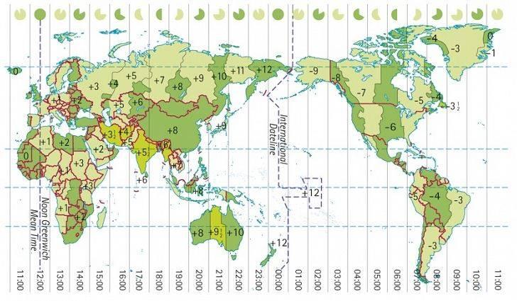 Časová pásma na zeměkouli dle časů