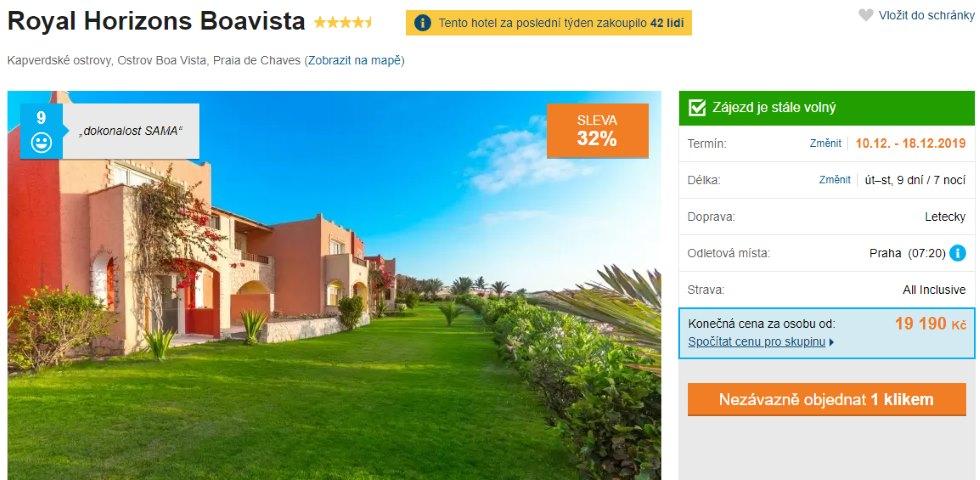 Boa Vista all inclusive zájezd Kapverdy levný Royal Horizons