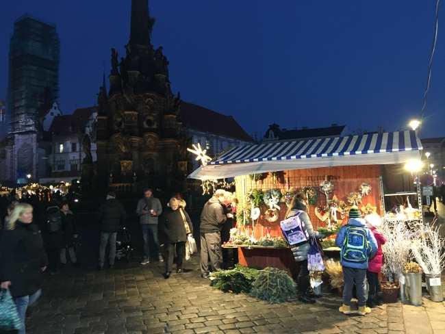 Vánoční trhy Olomouc stánek