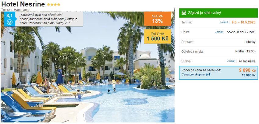 All Inclusive letecký zájezd do Tuniska