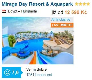 Dovolená u moře s Aquaparkem