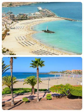 Kanárské ostrovy Los Cristianos pláže