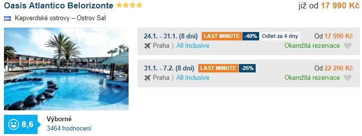 Kapverdy nejlevnější Kapverdské ostrovy s hotelem All Inclusive