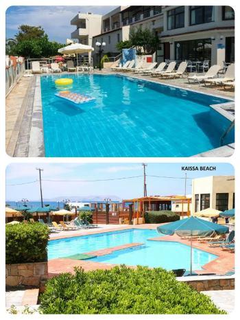 Krásné bazény u hotelu na Krétě first minute zájezd v květnu