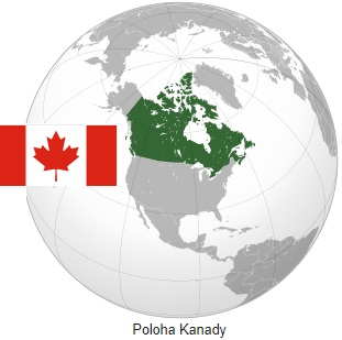 Kde leží Kanada na mapě světa