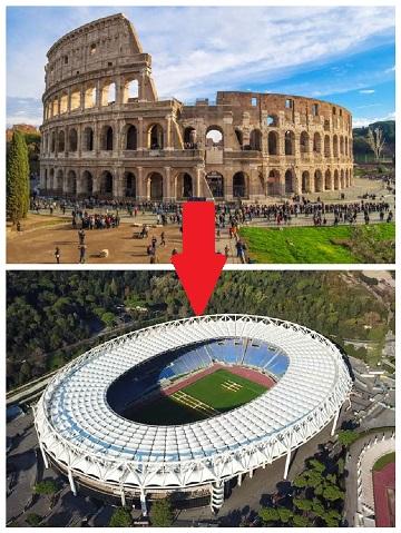 Koloseum v Římě bude nahrazeno fotbalovým stadionem