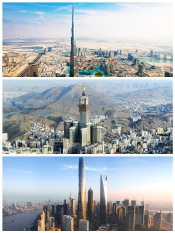TOP 3 nejvyšší mrakodrapy na světě