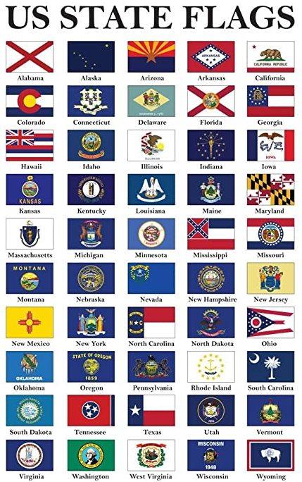 Vlajky států USA Ameriky