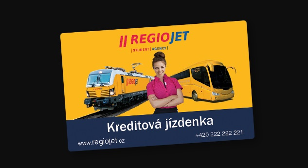 Kreditová jízdenka u regiojetu