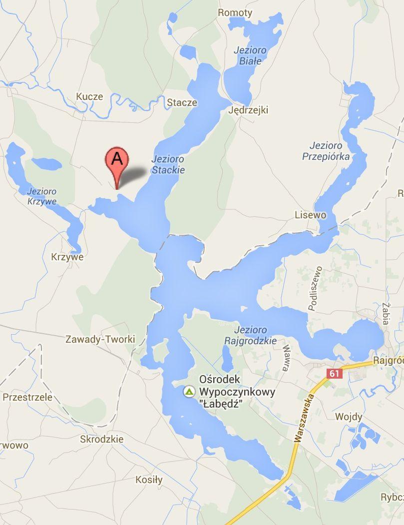 Mazurská jezera Polsko na mapě