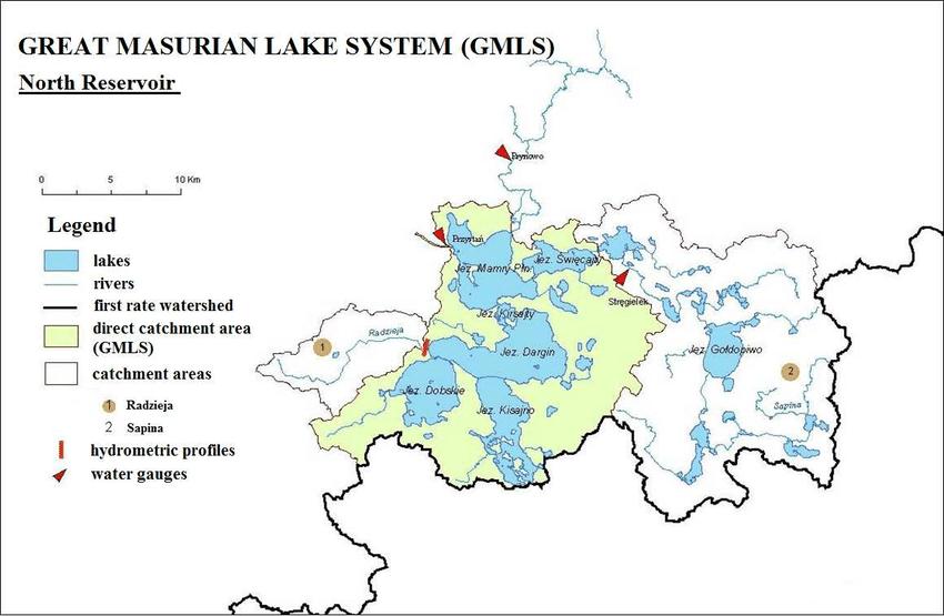 Mazurská jezera mapa